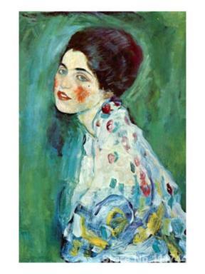 Pinturas-de-Gustav-Klimt-Retrato-de-uma-Senhora-pintados-&agrave